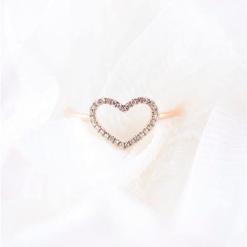 Diamond Heart Ring by Atheria Jewelry