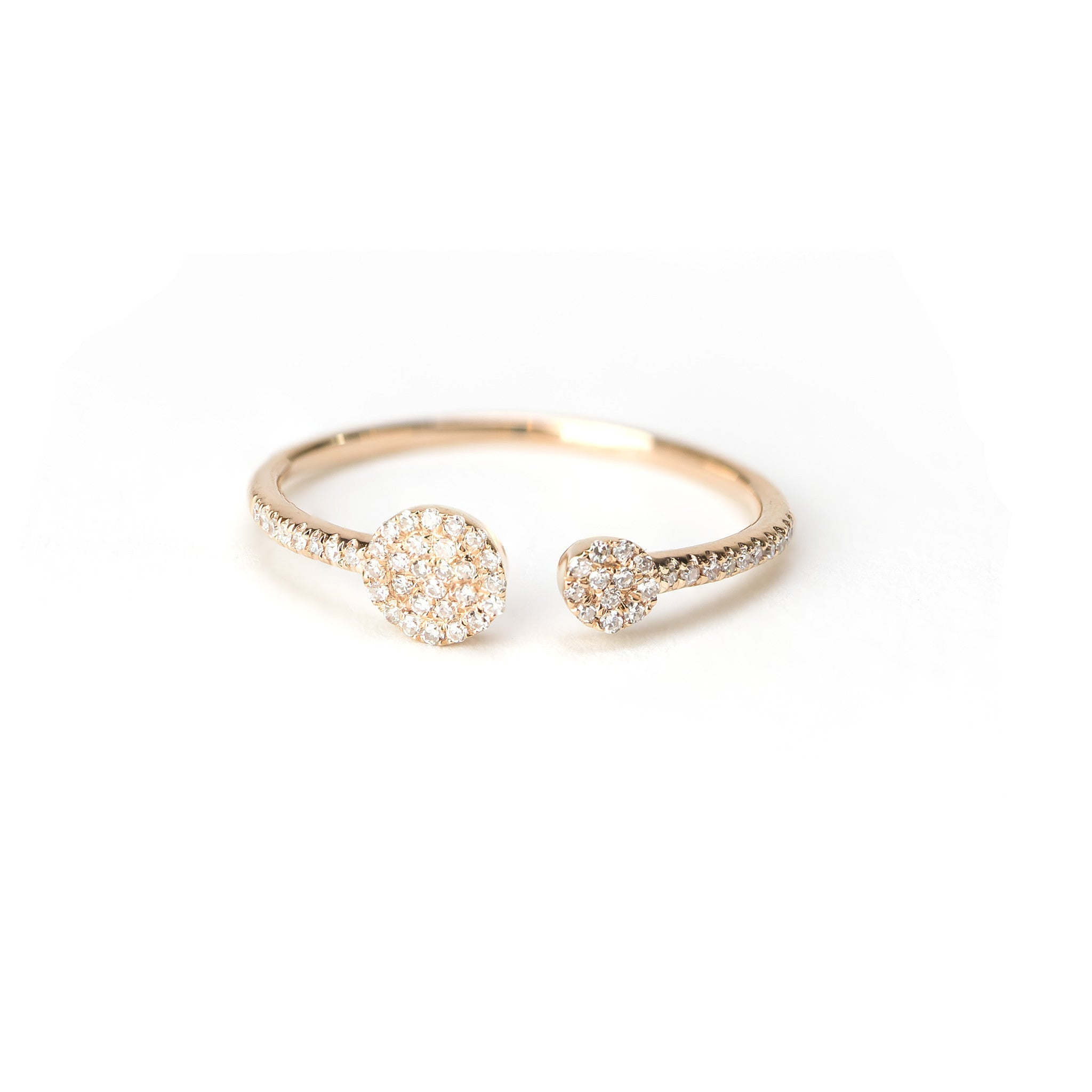 Duo Diamond Disc Ring by Atheria Jewelry