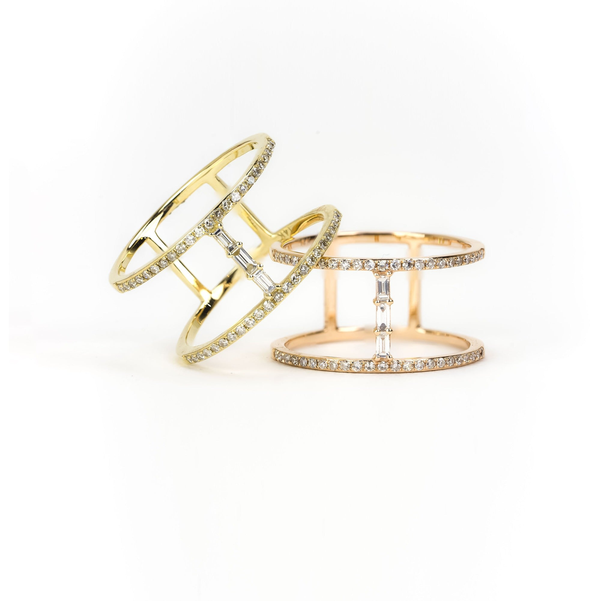 Parallel Diamond Ring by Atheria Jewelry