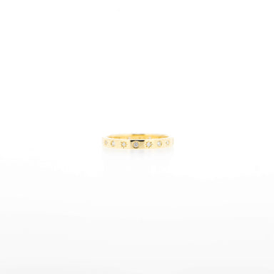 Sophia Diamond Band Ring in Yellow Gold