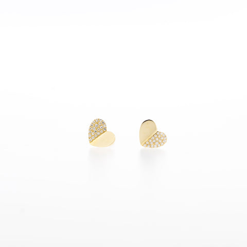 Harper Diamond Heart Earrings