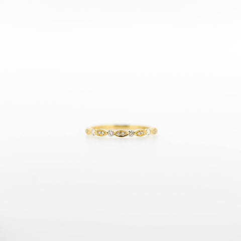 Guinevere Diamond Band Ring in Yellow Gold