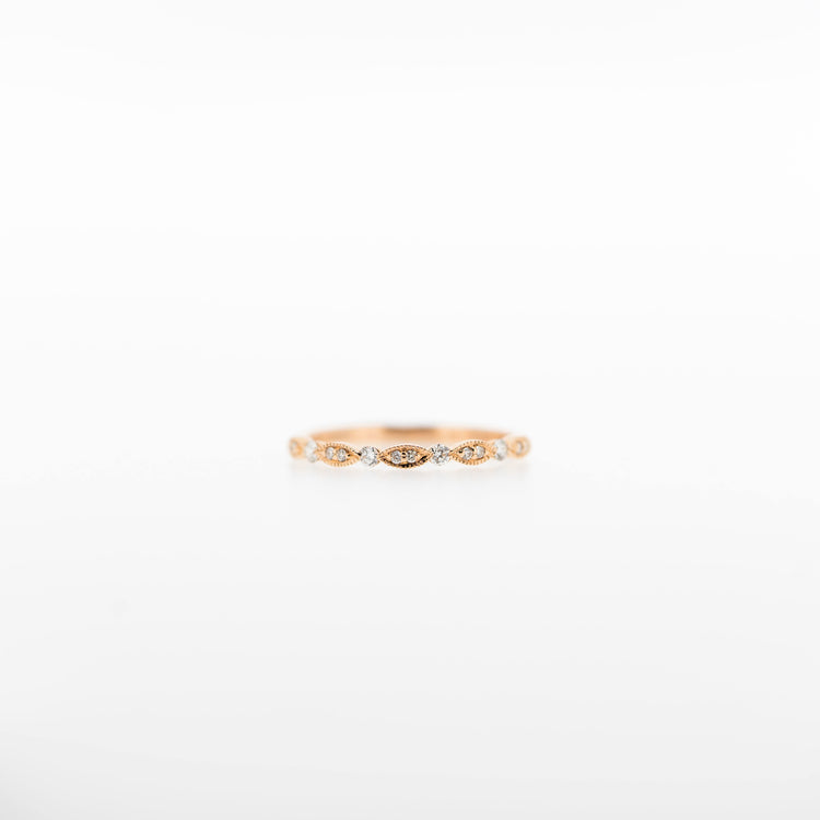Guinevere Diamond Band Ring in Rose Gold