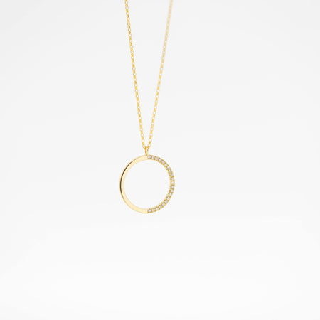 Charlotte Diamond Circle Necklace