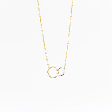Olivia Organic Diamond Circle Necklace