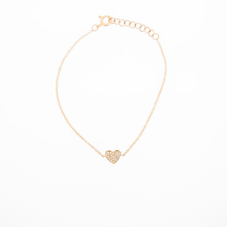 Evelyn Diamond Filled Heart Bracelet