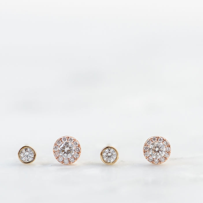 Zoey and Audrey Diamond Stud Earrings