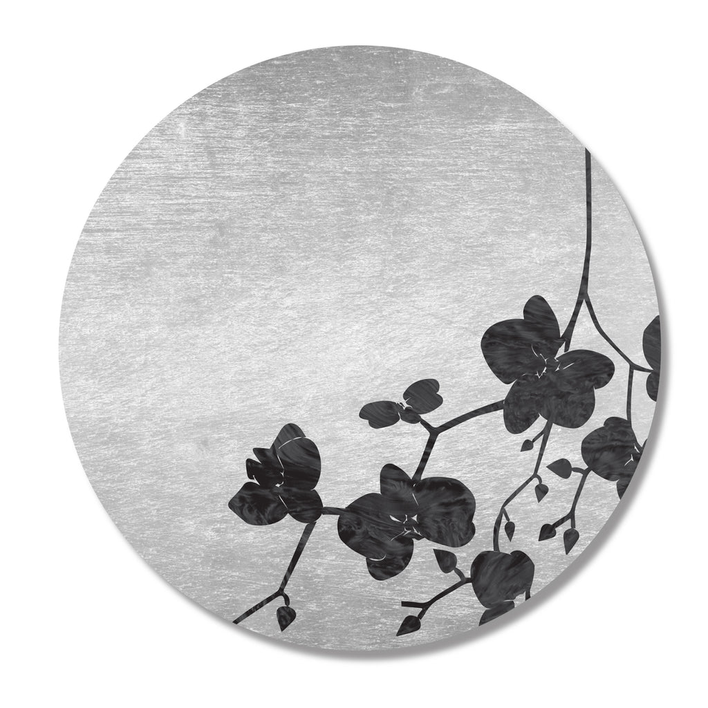Silver & Black Cherry Blossom Leaf Placemat- SET OF 4