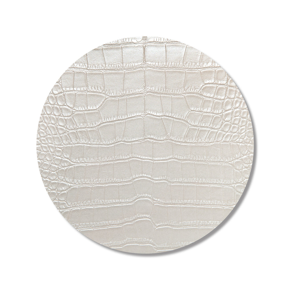 Ivory Croc Print Placemat- SET OF 4