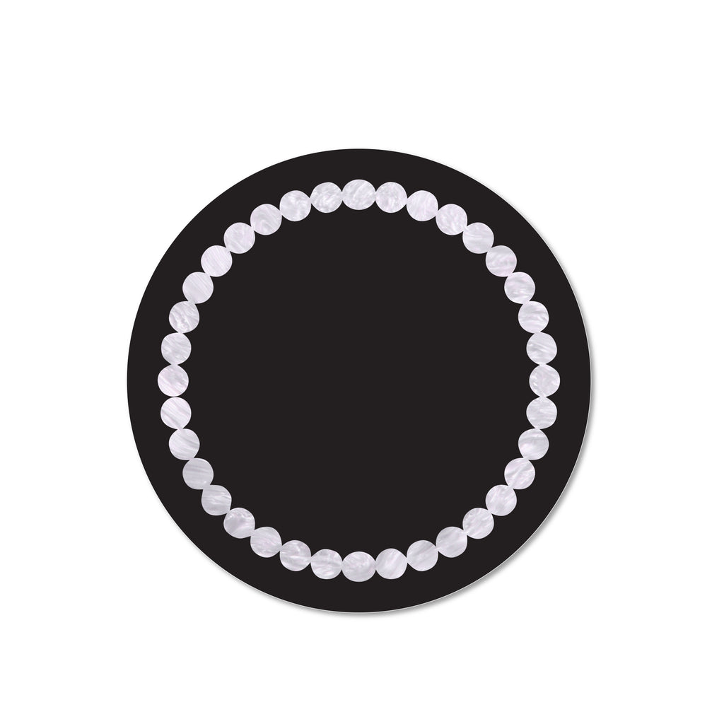 Black & White Pearl Print Placemat- SET OF 4