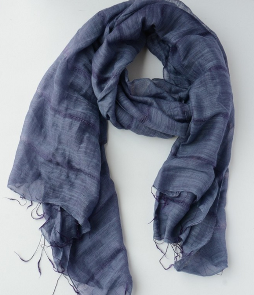 Purple Lieu Loose Weave Scarf