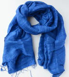 Royal Blue Tien Silk Scarf