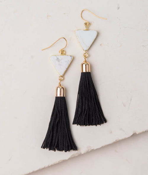 Black & White Scout Earrings