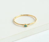 Tiny Triangle Gold Ring