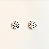 Round Dalmatian Earrings
