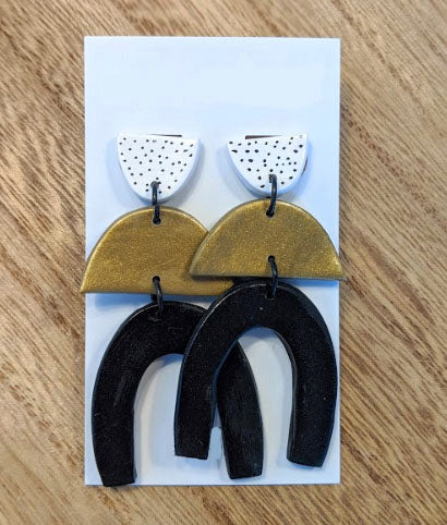 Peppered Statement 1 Earrings