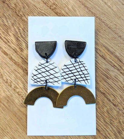 Grid Statement 4 Earrings