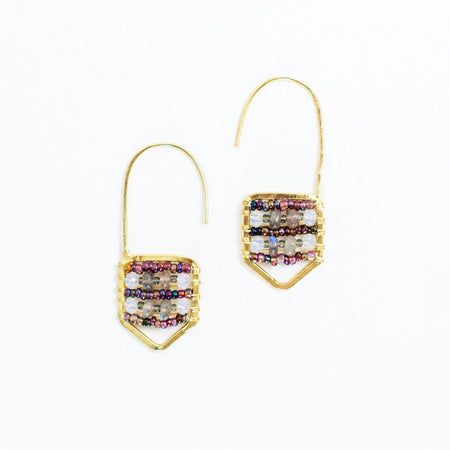 Mimi Earrings Maroon