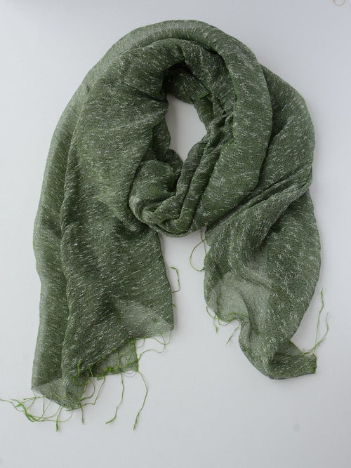 Hoa Forest Green Scarf