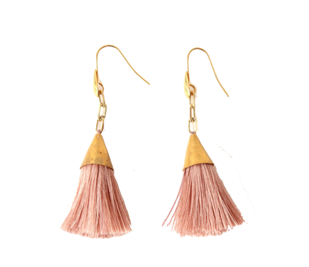 Infinite Tassel Earrings Black