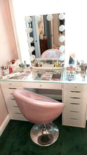 Load image into Gallery viewer, IMP-Antoinette Round Tufted Vanity Chair in Velvet