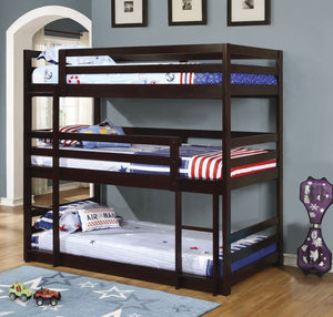 COA400302- Sandler Cappuccino Three-Bed Bunk Bed
