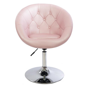 IMP-Antoinette Round Tufted Vanity Chair in Leatherette