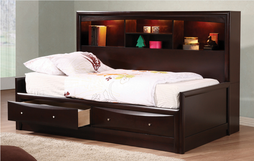 COA400410 Phoenix Transitional Cappuccino Twin Bed