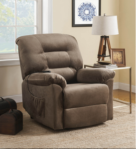 COA601025 Casual Brown Sugar Power Lift Recliner