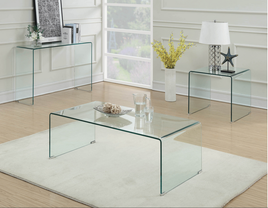 XCOA705328 Contemporary Clear Table Collection