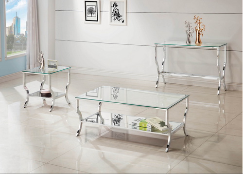 XCOA720338 Contemporary Chrome Coffee Table Collection