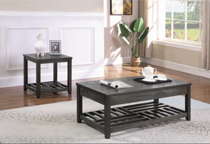COA722288 Rustic Grey Lift-Top Coffee Table