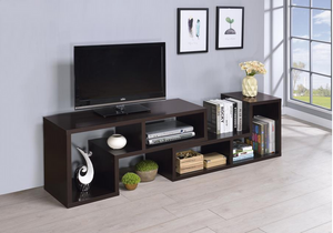 COA800329 Contemporary Cappuccino TV Console/Bookcase
