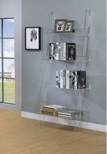 Load image into Gallery viewer, XCOA801553 Amaturo Clear Acrylic Ladder Bookcase