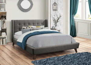COA301061 - Carrington Grey Upholstered Bed