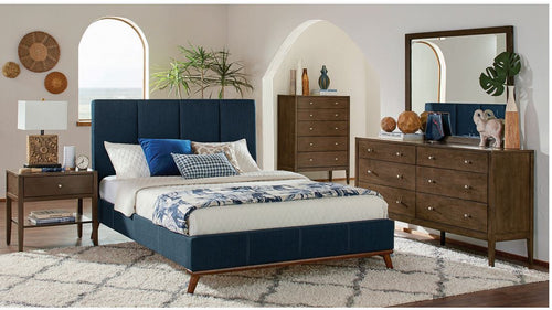 COA300626 - Charity Blue Upholstered Bed