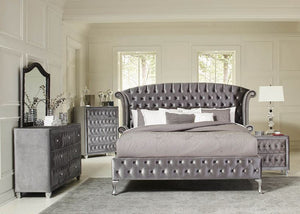 COA205101- Deanna Bedroom Traditional Metallic Bed
