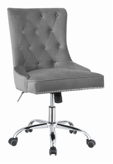 COA801994 - Modern Grey Velvet Office Chair