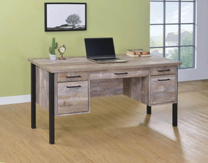 COA801950 - Samson Rustic Weathered Oak Desk