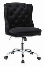 Load image into Gallery viewer, COA801995 - Modern Black Velvet Office Chair