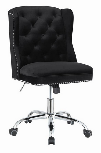 COA801995 - Modern Black Velvet Office Chair