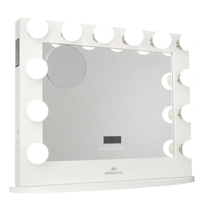 HOLLYWOOD ICONIC PREMIERE PLUS VANITY MIRROR WITH BLUETOOTH SPEAKERS
