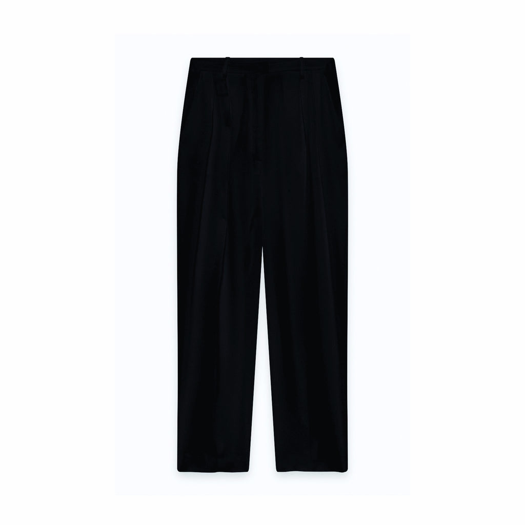 American Vintage BOZI136 Wide Trousers Navy American Vintage, - Stripes Fashion and Beauty
