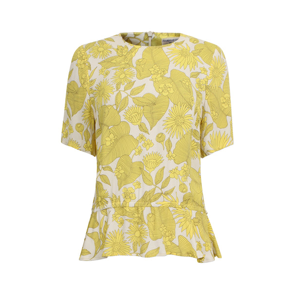 Meris Shirt Yellow Floral Baum Und Pferdgarten, - Stripes Fashion and Beauty