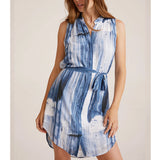 S/S Pleat Front Dress Blurred Stripe Bella Dahl, - Stripes Fashion and Beauty
