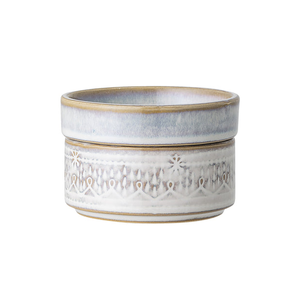Camellia Stoneware Jar with Lid Bloomingville, - Stripes Fashion and Beauty