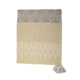 Throw Recycled Cotton Yellow Bloomingville, - Stripes Fashion and Beauty