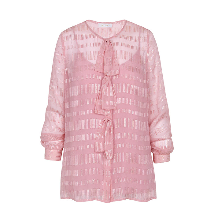 Intropia Pink Bow Blouse