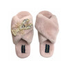 Pink Fluffy Slipper Pearl & Gold Lobster