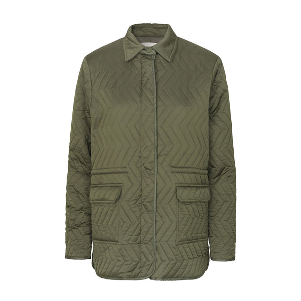 Imma Shirt Jacket Green Levete Room, - Stripes Fashion and Beauty